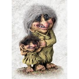 840266 Großmutter Troll und Groß Kind