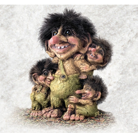 840267 Troll man with his children