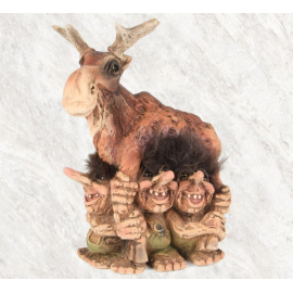 840307 Troll children and Moose
