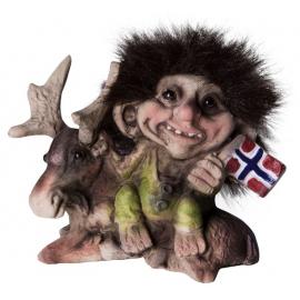 840.064 Troll mit Elch und Flagg