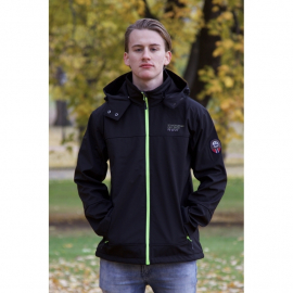Soft-shell Black with green zips