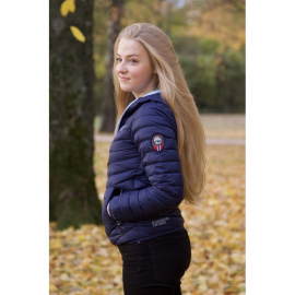 Ultra Light Down Jacket w/hood, Navy/Navy