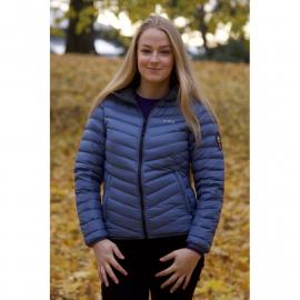 Ultra Light Down Jacket w/hood, Lady, Steel Blue