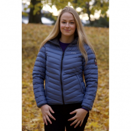 Ultra Light Down Jacket w/hood, Lady, Steel Blue