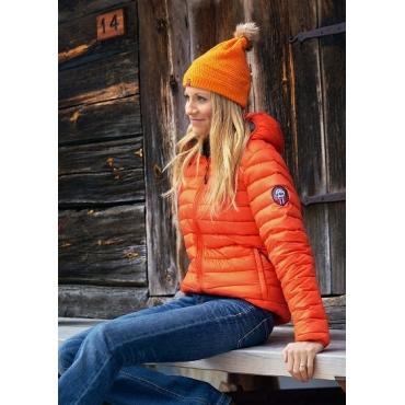 Ultra Light Down Jacket w/hood, Orange