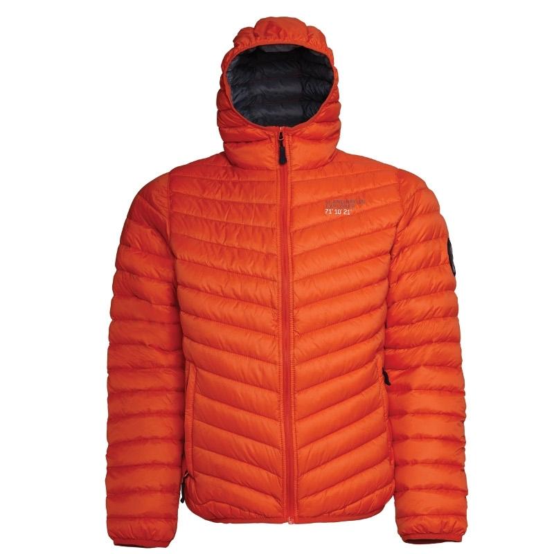 Ultra Light Down Jacket w/hood, Lady, OrangeScandinavian ...