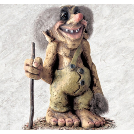 840103 Old troll with walking stick large
