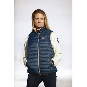 Ultra Light Down Vest, LightBlue/Navy