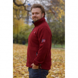 Fleece Jacket Burgunder
