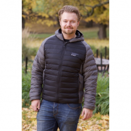 Ultra Light Down Jacket Unisex Black/Grey w/hood