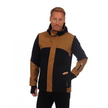 Stryn masculine knit shell jacket