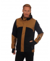 Stryn masculine knit shell jacket