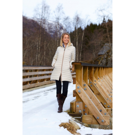 Ultra Light Down Coat Beige