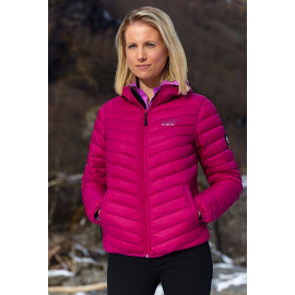 Ultra Light Down Jacket w/hood, Pink.