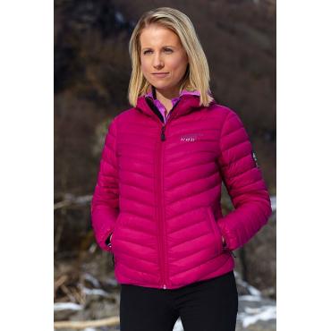 Ultra Light Down Jacket w/hood, Pink.