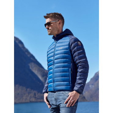 Ultra Light Down Jacket Blue Bicolor