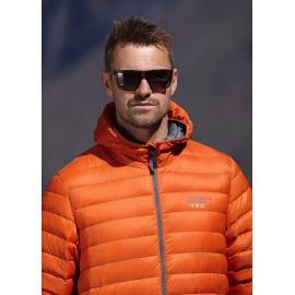 Ultra Light Down Jacket w/hood, Man, Orange