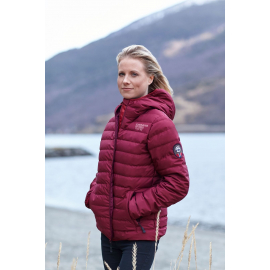 Down Jacket Seamless Wine Red,Lady