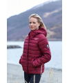 Down Jacket Seamless Wine Red
