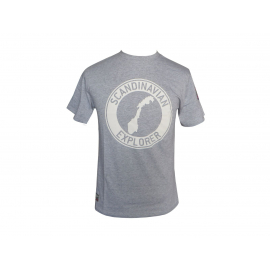Scandinavian Explorer Grey Circle t-shirt