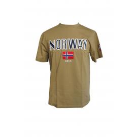 Norway T-Shirt Brown