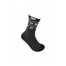 Black socks with norwegian pattern