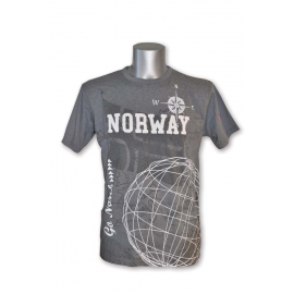 T-Shirt with Norway Flag grey