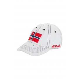 White cap with flag motive