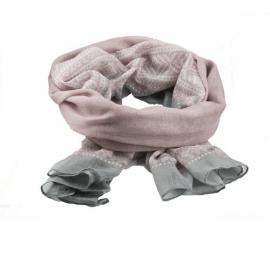 Marius Scarf Pink/Grey