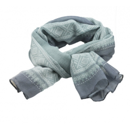 Marius Scarf in grey/mint/blue