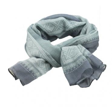 Marius Scarf in grey/mint/blue