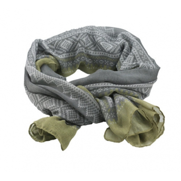 Marius Scarf in Grey/Green