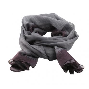Marius Scarf in Grey/Purple