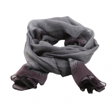 Marius Scarf in Grey/Purple