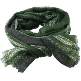 Marius Scarf in Green/Black/White