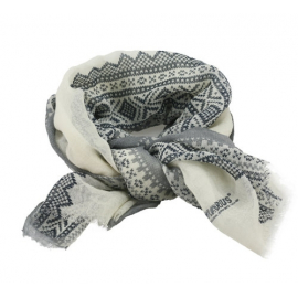 Marius Scarf in White/Grey