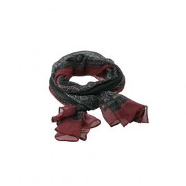 Marius Scarf in Black/Red