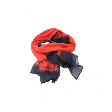 Marius Scarf in Coral/Blue/Pink