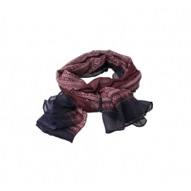 Marius scarf in Purple/White/Aubergine