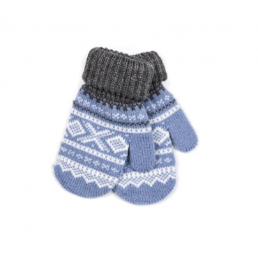 MARIUS® MARIUS KIDS, WOOL MITTENS, LIGHT BLUE