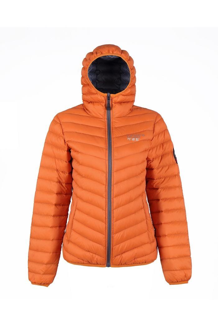 8f2da4dc Dunjakke dame, rusty orange med hetteScandinavian Explorer