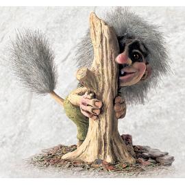 840174 Old female troll behind tree
