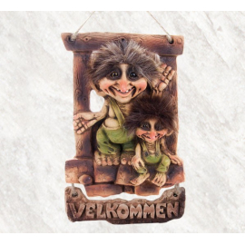 840197 Troll welcome sign
