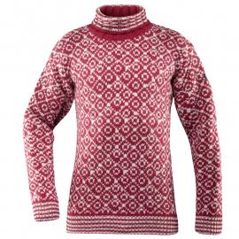 SVALBARD Sweater HIGH Neck Hindberry