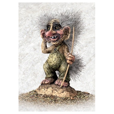 840040 Old troll with walking stick