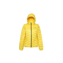 Ultralett Dunjakke Dame lys gul