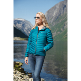 Ultra Light Down Jacket Lady Ocean Green