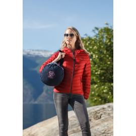 Ultra Light Down Jacket Lady w/hood, Red