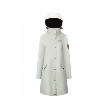 Rain Coat Lady White