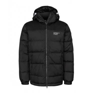 Unisex Down Jacket Thick Black